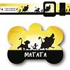 PACK PLAQUITA + COLLAR  DISEÑO MATATA
