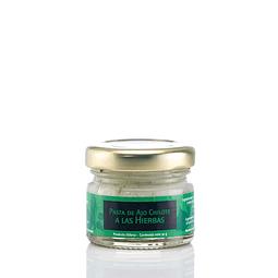 Mini pasta de ajo chilote a las hierbas