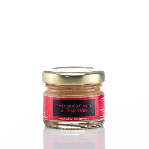 Mini pasta de ajo chilote al pimentón