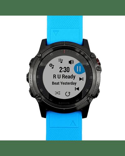 Fenix 5x Plus Zafiro - Frost Blue