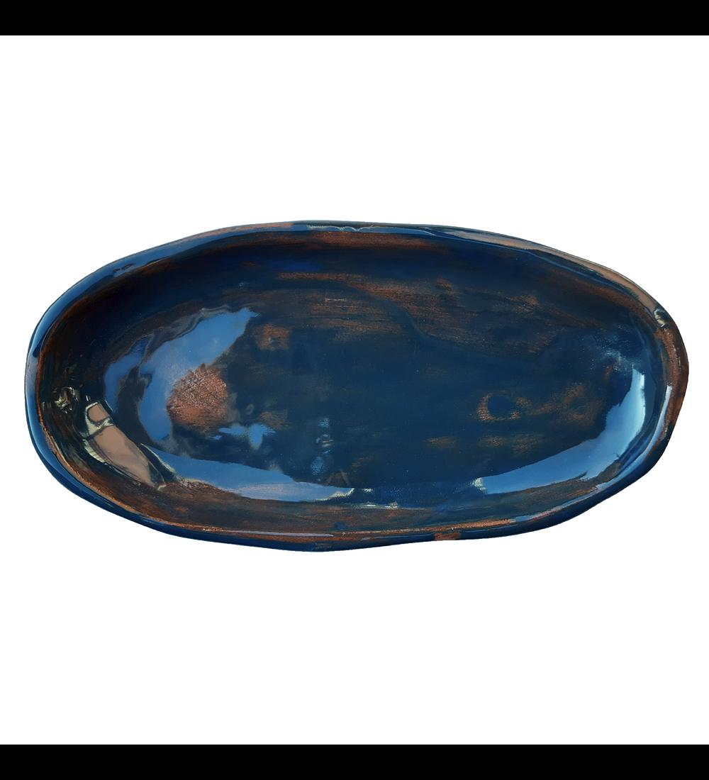 Bandeja artesanía cerámica esmaltada