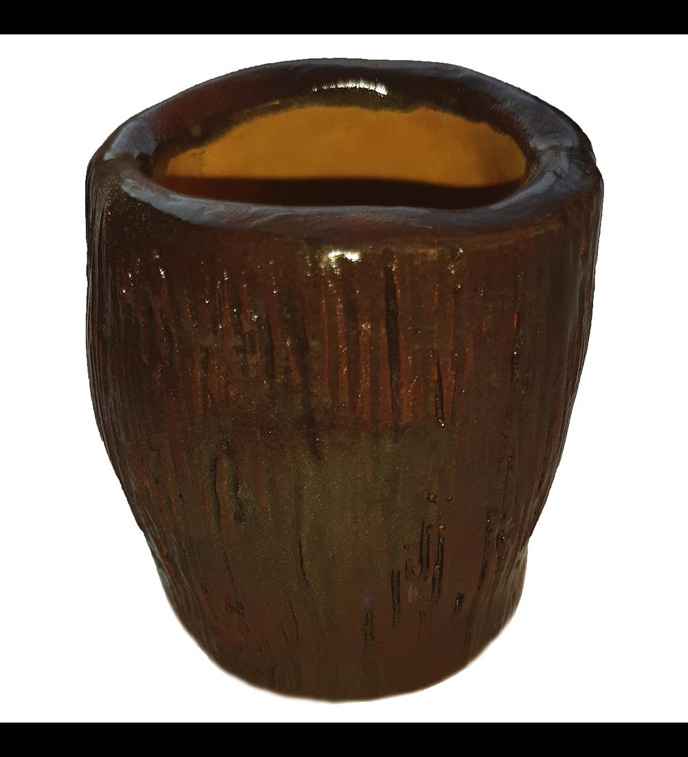 Jarro esmaltado artesanía cerámica diseño fungi