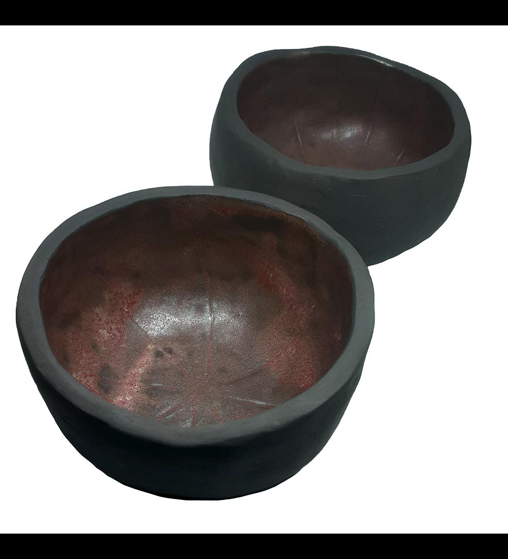 Pocillos cerámica gres diseño hongo