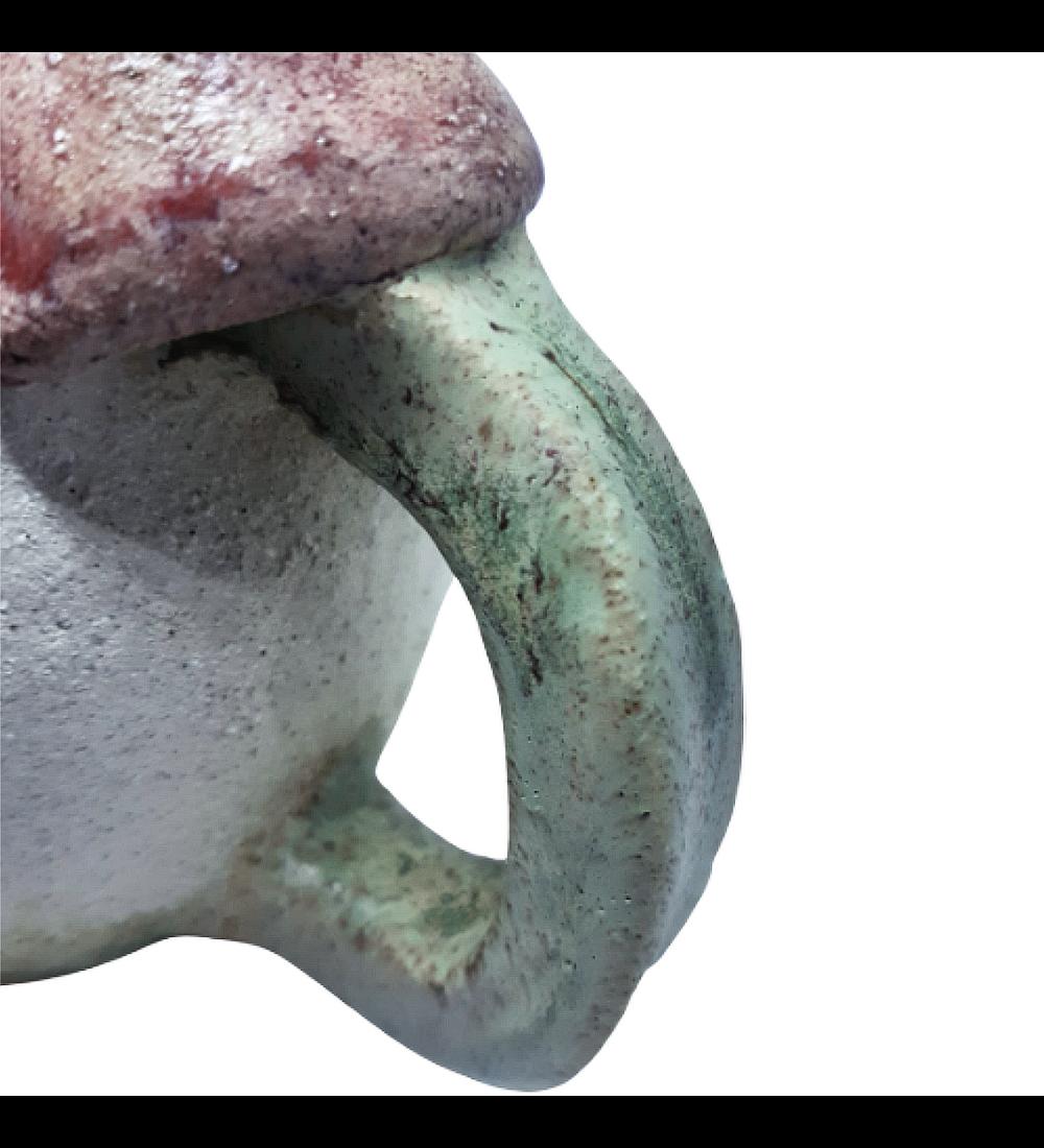 Jarro gres diseño fungi
