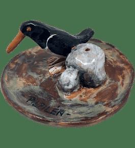 """Portaincienso cerámica diseño Fauna Nativa """"Pilpilén"""""""