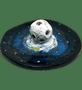 """Portaincienso cerámica diseño Naturaleza """"Luna"""""""