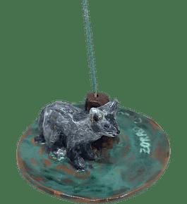 """Portaincienso cerámica diseño Fauna Nativa """"Zorro Culpeo"""""""