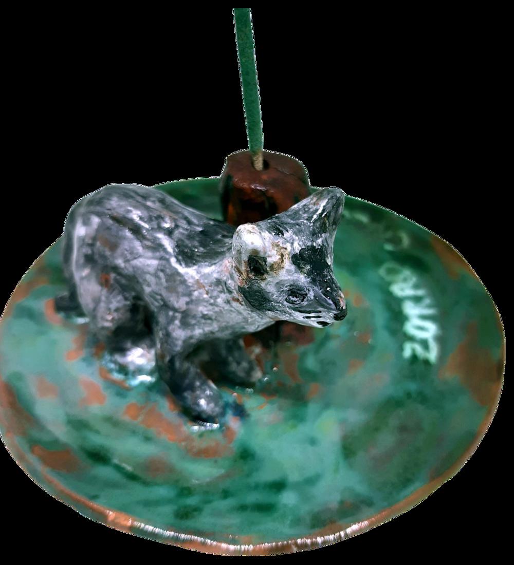 Portaincienso cerámica diseño Fauna Nativa