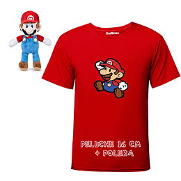 Polera  Super Mario Bross + Peluche mini Grafimax