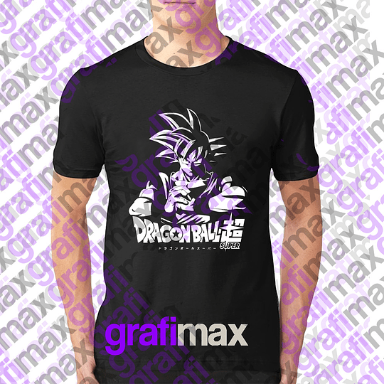 Polera Dragon Ball Super Goku Esténcil Grafimax