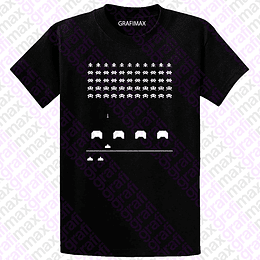 Polera Space Invaders Gamer Retro Grafimax
