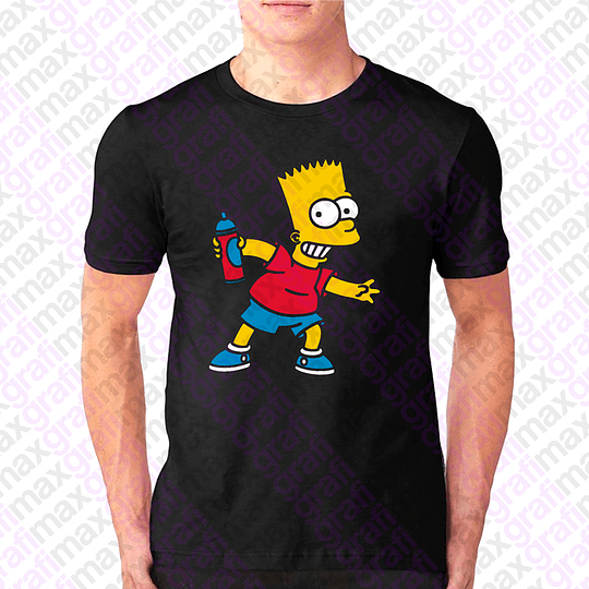 Polera Bart Simpson Spray Dibujos Animados Grafimax
