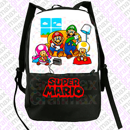 Mochila Super Mario And Friends Videojuegos Gaming Grafimax