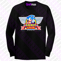 Polera Manga Larga Sonic Mania Video Juego Grafimax