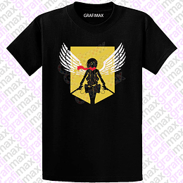 Polera Spread Your Wings Mikasa Shingeki no Kiojin Attack on Titan Grafimax