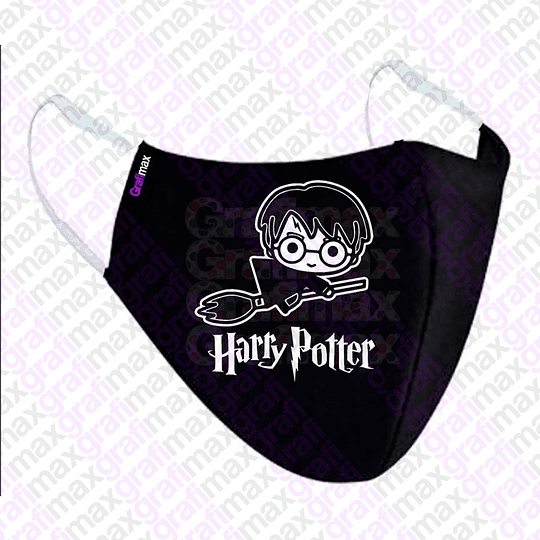 Mascarilla Tapa Boca Harry Potter Doble Capa Unisex Grafimax