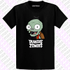 Polera Plants vs Zombie Plantas versus Zombie  Face Zombie Video Juegos
