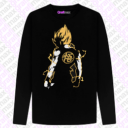 Polera Manga Larga Dragon Ball Goku Super Saiyan Espalda Grafimax
