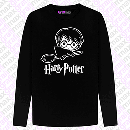 Polera Manga Larga Harry Potter Chibi Grafimax