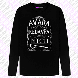 Polera Manga Larga Avada Kedabra Bitch Harry Potter Grafimax