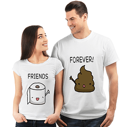 Combo Poleras Best Friends Paper/Poop