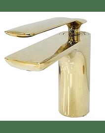 Mezclador bajo dorado para lavamanos Kailany
