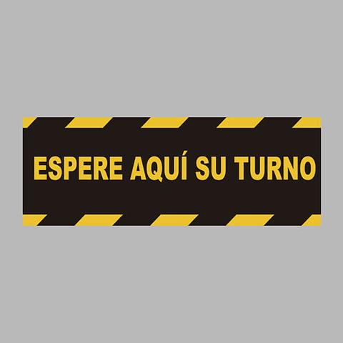 Vinilo Huincha Espere Su turno