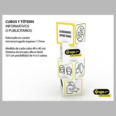 Cubos Totems Informativos