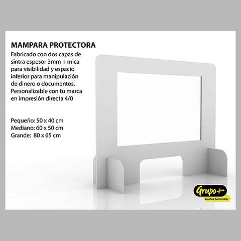 Mampara Sobremeson PVC Espumado