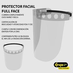 Protector Facial Inocuidad FDA - Policarbonato