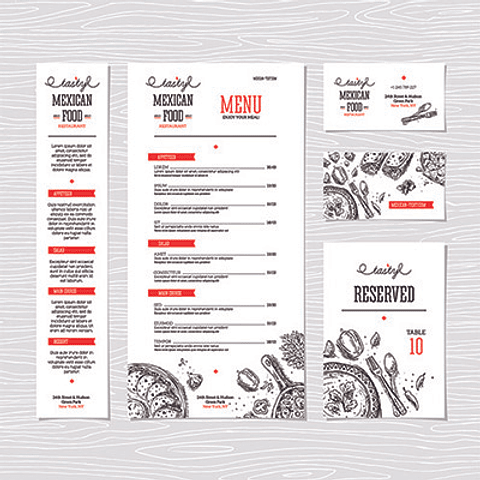 Pack 10 Carta menu