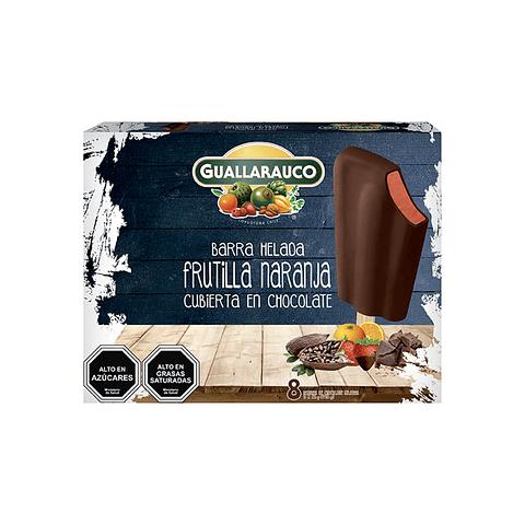 Barra Frutilla/Naranja con Chocolate 8 un x 40ml/57g