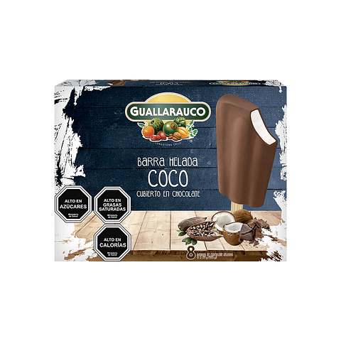 Barra Coco cubierto en Chocolate 8 x 40ml/57g