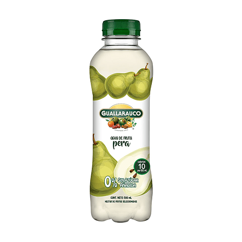 Agua de fruta Pera sin azúcar añadida 500ml