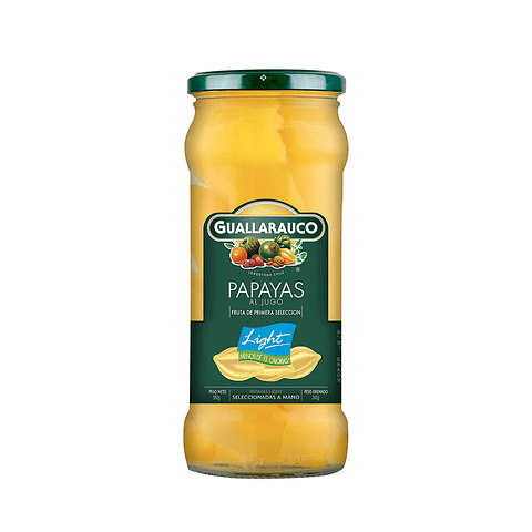 Frasco papaya light en conserva 550g