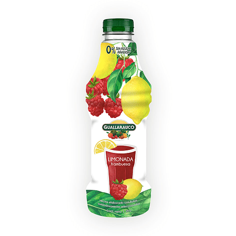 Néctar Limonada frambuesa 0% azúcar añadida 1lt