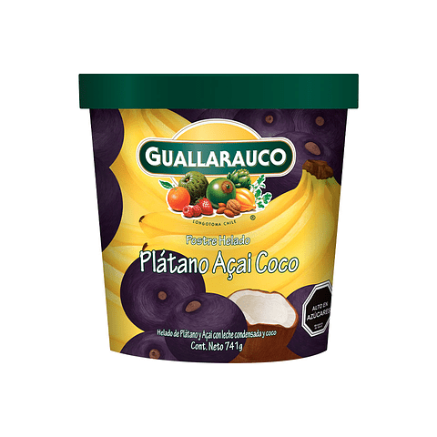 Helado Familiar Plátano Açaí Coco 900ml/741g