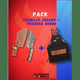 Pack Cuchillo Jaguar + Pechera Denim