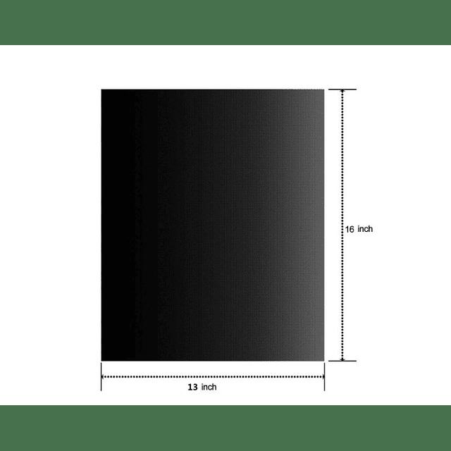 Lamina Negra Carbono 40x33 cm (3 unidades)