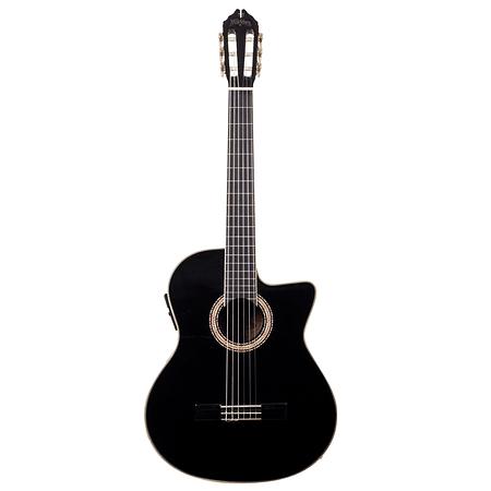 Guitarra Acústica C5CEB Washburn, color negro