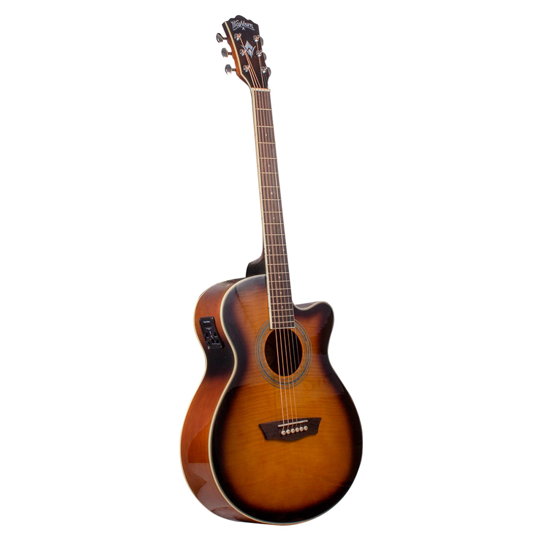 Guitarra Electroacústica EA15ATB Washburn, color Café