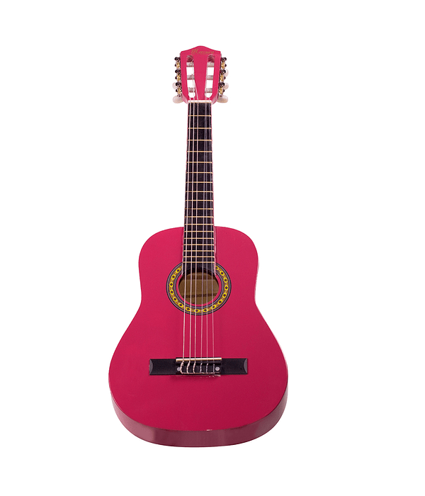 "Guitarra Clásica 30"" MGN01 Para Niño, Color Rosa"