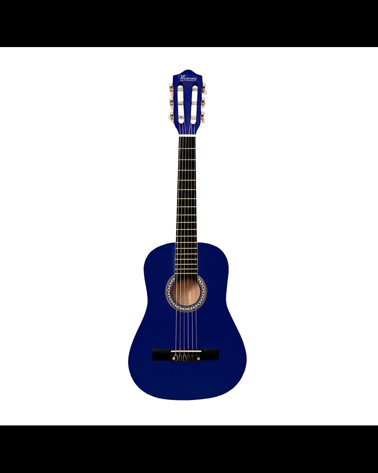 """Guitarra Clásica 30"""" MGN01 Para Niño, Color Azul"""
