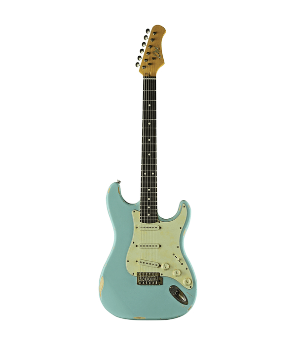 Guitarra Eléctrica S-300 Relic EKO, Daphne Blue