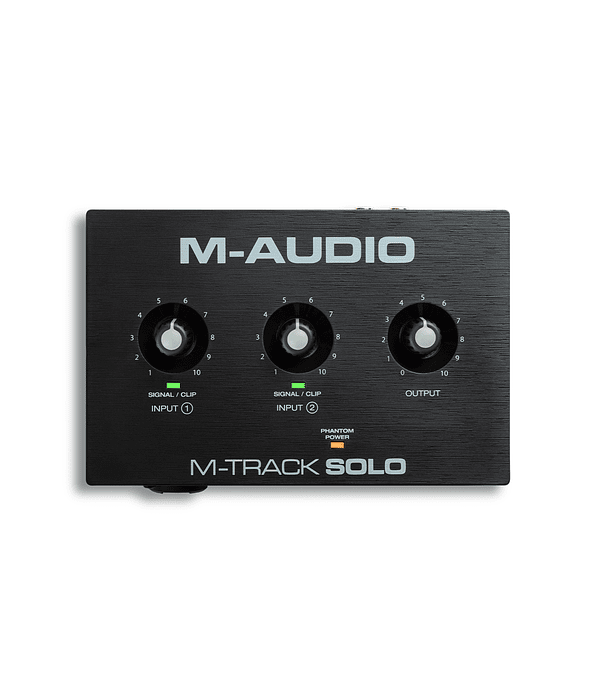 Interfaz de Audio Usb M-Track Solo II M-Audio