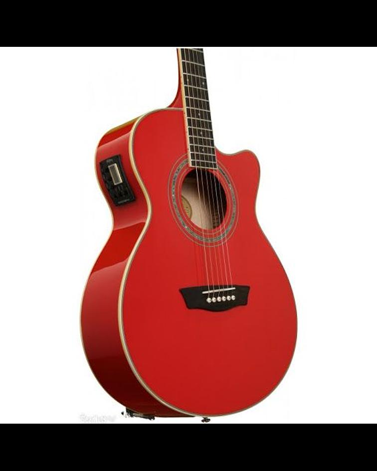 Guitarra electroacústica EA12R, cuerdas metal, Washburn