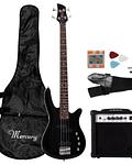 Pack Bajo Electrico Negro Mercury