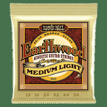 Cuerdas Earthwood 80/20 Bronze Acoustic Medium Light 2003 Ernie Ball