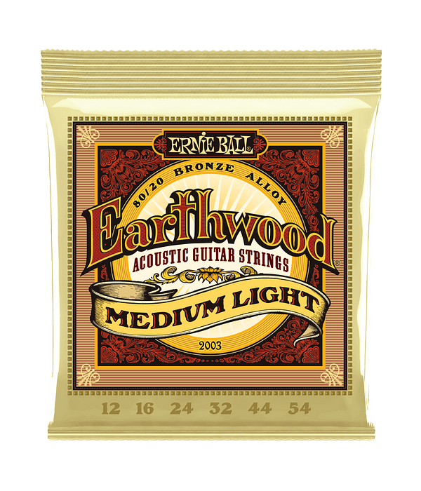 Cuerdas Earthwood 80/20 Bronze Acoustic Medium Light 2003 Ernie Ball