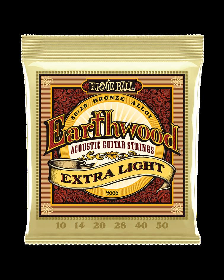 Cuerdas Earthwood 80/20 Bronze Acoustic Extra Light 2006 Ernie Ball